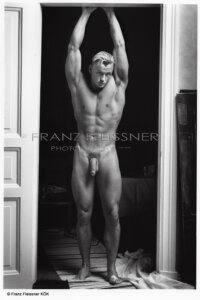 Handsome shirtless hunk